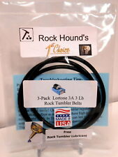 Rock Tumbler Belt Lortone Made In USA 3A 3 Lb Replacement (3) ! FREE Lubricant !