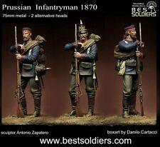 Migliori SOLDATI PRUSSIANO FANTERIA 1870 2 TESTE 75 mm MODELLO NON VERNICIATA METAL KIT