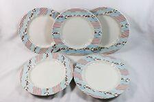Set of 5 Johnson Bros England Farmhouse Chic Silky Stripe Dessert/Salad Plates