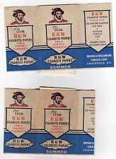 VINTAGE B&W Cigarette Papers GUMMED Tobacco TOBACCIANA Cigarettes LOUISVILLE KY