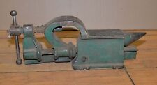 Rare antique blacksmith vise anvil drill 3 in 1 tool collectible forge metal