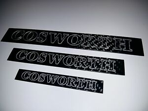 Carbon Fibre Cosworth Badge - MEDIUM size - Carbon Fiber RS Ford Cosworth Badge