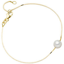 Armband 375 Gold Gelbgold 1 Akoya Perle 20 cm Goldarmband Perlenarmband