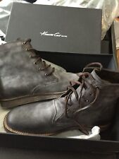 KENNETH COLE REACTION MENS 10M Leather Boots Grey Distressed Vintage Look NEW