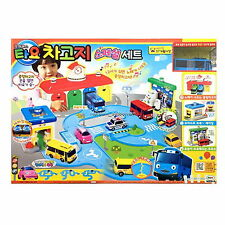 Tayo The Littl Bus Garage Special Set Car Wash&Gas Station&Toy Tracks Kids Gift