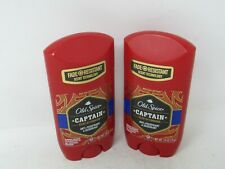 LOT OF 2 Old Spice Fade Resistant Scent Anti-Perspirant & Deo Captain 2.6 oz
