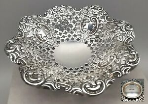 Victorian 1896 (James Dixon&Sons Ltd) Solid Silver Sweet Dish (Ex Condition) 47g