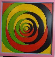 Dieter Günzel :Spiralkomposition aus farbigen Holzteilen II, 1995