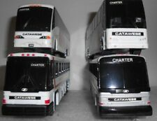 Lot of 4 Catawese Bus Lines Buses