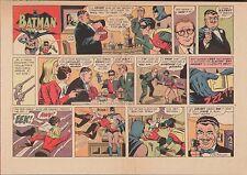 1967 BATMAN ROBIN & JACK BENNY ORIGINAL SUNDAY COMIC PROOF PAGE PRODUCTION ART