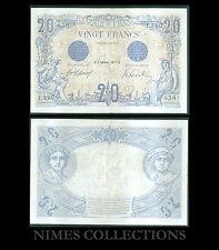 BILLET DE 20 FRANCS  BLEU  DATE 4-DECEMBRE-1912 ETAT: SUP  N° L.3307