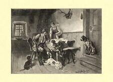 Chi deve con immagine di caccia di Adolf Eberle per 1892 fac simili 78 su carta cartoni