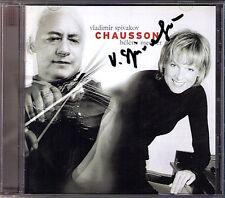 Vladimir Spivakov signed Chausson Poeme op.25 concert op.21 Hélène MERCIER CD