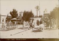 Albert, Tunis, Marché à la Kasba  Vintage citrate print.  Tirage citrate  12