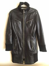 Black Leather  moto biker rock  Jacket by Bod & Christensen Black  US Sz XS