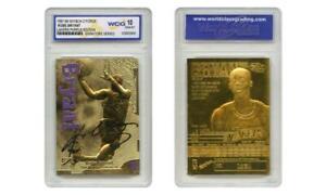 1997-98 KOBE BRYANT Skybox Z-Force 23K Gold Signature Card Lakers Purple GEM 10
