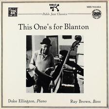 DUKE ELLINGTON RAY BROWN This Ones for Blanton Teldec Direct Metal Mastering DMM