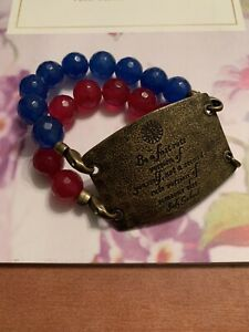 Lenny & Eva Beaded Bracelet w/Sentiment - Be a first rate version of yourself