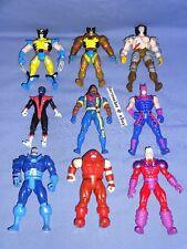 X-Men Toy Biz Action Figure Lot Wolverine Nightcrawler Bishop Apocalypse Magneto