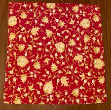 1 Pottery Barn Vanessa Palampore Euro Size 29x29 Pillow Sham Yellow Red Floral