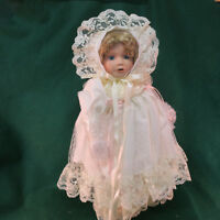Gustave Wolff Porcelain Doll Wimbledon PRISSY Doll #A3056 NIB and Stand