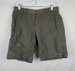 Columbia PFG Omni-Shade Men's Dark Green Fishing Shorts sz 32
