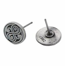 New Doctor Who Seal of Rassilon 10mm Stud Earrings