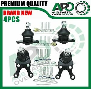 4Pcs Front Upper Lower Ball Joints For MITSUBISHI PAJERO NH NJ NK NL 4WD 91-2000