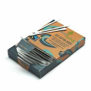 Organic Fairtrade Cotton Buds (FSC Mix 70%) - Packs of 100 - Biodegradable