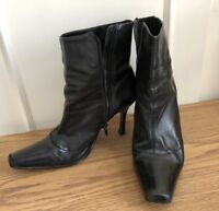 Boots Black Leather Size 7