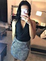 New Black Bodysuit Top Leotard Stretch Fitted Vest T Shirt Womens Ladies Uk Size