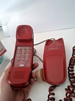 VINTAGE RED 1976 WESTERN ELECTRIC BELL TRIMLINE PHONE BUTTON TOUCHTONE