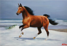 "ShiFan original oil paintings Modern Art On Canvas Ferghana horse 24""×36"" #1171"