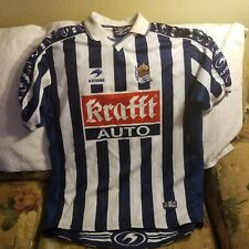REAL SOCIEDAD SOCCER JERSEY - 2XL - VINTAGE SOCCER THROWBACK - ASTORE