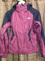 The North Face HyVent Womens Small Rain Wind Jacket Coat Maroon Black Hooded