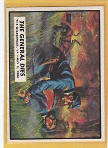 1962 TOPPS CIVIL WAR NEWS THE GENERAL DIES #62 EXMT/EXMT+ JOHN SEDGWICK *78037