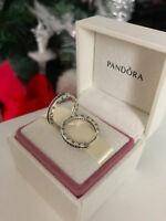 PANDORA Genuine Silver Pave Hoop Earrings - 290558CZ