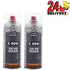 HB Body Professional 2K Clear Coat Lacquer 400ml Clearcoat 2x Aerosol Car Laquer