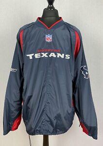 Reebok On Field NFL Houston Texans Windbreaker Pullover Men's Size 2XL Jacket