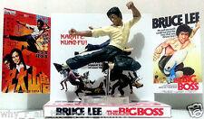 BRUCE LEE - THE BIG BOSS Action Figure Display Diarama on Custom Design Diorama