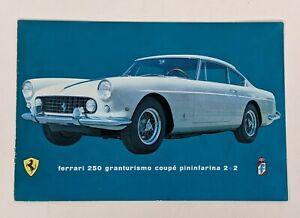 Ferrari 250 Granturismo Coupe Pininfarina 2+2 Original Color Brochure 60s w pic