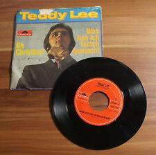 """Single 7"""" Teddy Lee - Oh Christina! Was hab ich falsch gemacht TOP!"""