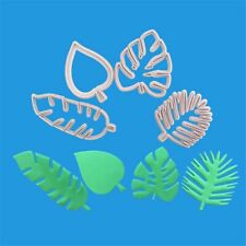 Tropical Leaves Fondant Cake Mold Embossed Candy Biscuits Cookie Cutter rr CA