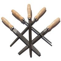 Hoch Kohlenstoff Stahl Feilen Set mit Holzgriffen Raspel Feile für Holz, A5R9