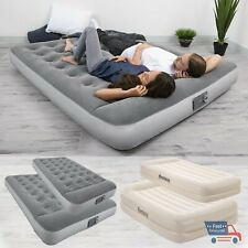 Air Mattress With Built In Ac Pump Inflatable Camping Bed Home Sleeping Airbed