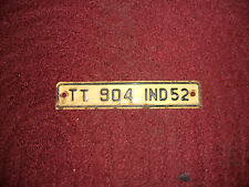Early Antique Vintage Indiana License Plate 1952 Unique Metal