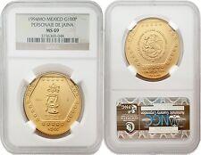 Mexico 1994 Personaje De Jaina 100 Nuevos Pesos 1 oz Gold NGC MS-69