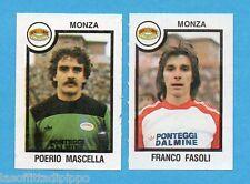 PANINI CALCIATORI 1982/83 -Figurina n.490- MASCELLA+FASOLI - MONZA -Rec