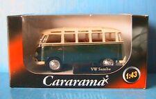 VW T1 BULLI SAMBA VERT CARARAMA 1/43 MINI BUS VITRE NEW