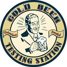 Cold Beer Testing Station Volunteers Needed  Metal Tin Sign  - Post Discounts